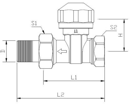 dimensions thermostatic valve